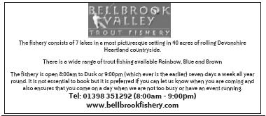 Trout Fishery - 7 Lakes - Rainbow, blue & brown Trout - Open 8.00am - 9.00pm
